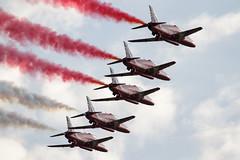 Duxford Airshow (Canon_Snapper) Tags: aircraft aviation jets duxford redarrows raf airshows militaryaircraft formationflying trainingaircraft aerobaticaircraft