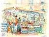 marché fruits et légumes Marmande juillet 2014