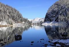 Calm Mountain Lake (JB by the Sea) Tags: canada rockies alberta banff rockymountains lakelouise lakeagnes banffnationalpark canadianrockies september2014