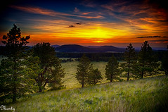 Green's Peak, Arizona (concho cowboy) Tags: sunset arizona white mountains sonnenuntergang coucherdesoleil greenspeak showlow montyjackson commentbygwlap