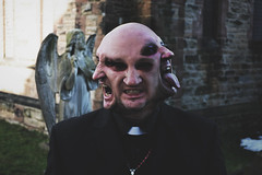 A representation of my Father. [Renamed] (DanielCartwright.) Tags: light portrait church dark photography faces good evil surreal devil priest