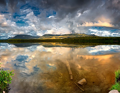 Cast (Ed Boudreau) Tags: lake reflection water alaska landscape lilly beachlake alaskalandscape stormcloudschugiakalaska