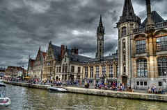 Belgium (10) (myworldilivein.com) Tags: old city travel building beautiful architecture boat canal ancient belgium historical ghent turist