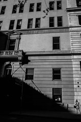 Her (Giovanni Savino Photography) Tags: city newyorkcity woman architecture buildings focus shadows manhattan streetphotography her human newyorkstreets newyorkstreetphotography magneticart giovannisavino