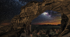 Broken Arch (Color Blind 56) Tags: brokenarch archesnationalpark utah stars milkyway nikon night rock landscape galaxy d200 dark sky cb1956 composite viewpoint natural nightsky nightscape