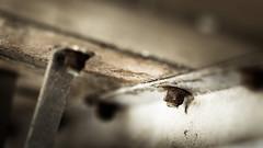 Rest Rust. (Sylvie.) Tags: rest rust ladder old white wood details dof depthoffield mechelen meetingthewall sonyilce6000 ilce6000 a6000 fe90mmf28macrogoss 90mm f28 sylvie peeters structure belgium renovation construction urban