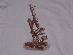 Microscope (craftyscientists51) Tags: geekshirt science microbiology teacher screenprint geek biology equipment microscope handmade