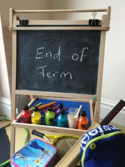 A School Chalk Board Celebrating the End of Term (itnmarkeducation) Tags: school teacher class classroom pupils students chalk chalkboard term halfterm termtime schoolholidays endofterm