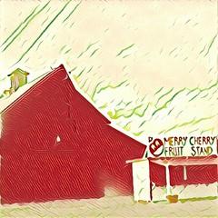 (sftrajan) Tags: edited california 2017 fruitstand prisma roadside pachecopass rural countryside santaclaracounty barn édité cameraphone samsung