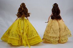 Disney Store DFC Belle vs Hasbro Enchanted Ball Gown Belle - Live Action Beauty and the Beast - Deboxed - Standing Side by Side - Full Rear View (drj1828) Tags: standing us toysrus beautyandthebeast belle purchase hasbro 12inch ballroom ballgown yellow liveactionfilm 2017 deboxed disneystore disneyfilmcollection doll posable 1112inch sidebyside comparison review