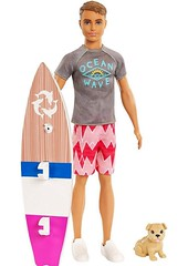 Dolphin Magic Ken (Still Museum) Tags: barbie doll surf board puppy dog