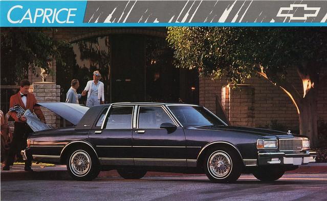 classic chevrolet sedan postcard 1989 ls caprice brougham