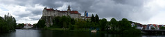 Sigmaringen Castle panorama (barnyz) Tags: panorama building castle architecture river germany sony medieval historic historical schloss 16mm picturesque fortress danube badenwrttemberg sigmaringen sigmaringencastle sweeppanorama nex3