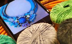Art and craft.Technology and tradition (sifis) Tags: art technology craft athens panasonic yarn greece tradition lang amalfi lx7 sakalak woolshop sakalakwool