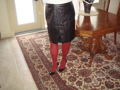 Blk Patent HH Red tights (dbbys shoes) Tags: sexy leather tv shoes pumps highheels cd tights skirt crossdressing blouse hose tgirl pantyhose crossdresser dressed tg patent crossdressed tgurl blackpatent