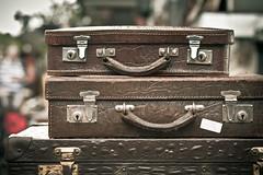 Smiling faces (Herr Olsen) Tags: leather vintage smiles baggage leder solingen trdel suitcases koffer pareidolie schlosburg