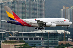 Asiana Airlines | Airbus A380-800 | HL7625 | Hong Kong International (Dennis HKG) Tags: plane canon airplane hongkong airport oz aircraft 1d airbus a380 hkg aar asiana planespotting cheklapkok airbusa380 staralliance asianaairlines 100400 25l vhhh hl7625