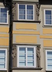 The sculpture on top left is interesting! (:Linda:) Tags: sculpture woman man animal germany nude bavaria town coburg franconia caryatid erker baywindow womansculpture
