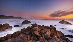 Cape Foulwind (Fernandez Barrett) Tags: sunset sea newzealand sky beach clouds rocks southisland westport westcoast capefoulwind canoneos5dmarkiii
