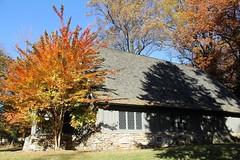 Garrison Forest ~ chapel shadowplay (karma (Karen)) Tags: trees windows shadows fallcolors maryland roofs chapels shadowplay owingsmills garrisonforest baltimoreco