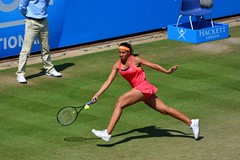 Madison Keys during the final of the Aegon International 2014 (One more shot Rog) Tags: game tennis event eastbourne racket centrecourt tennisballs aegon eastbournetennis grasscourt madisonkeys aegoninternational