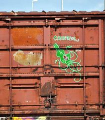 CMONSTER. (NTHESTREETS) Tags: streetart graffiti orlando florida traintracks tracks trains cargo rails spraypaint boxcar graff railways freight trainyard trackside csx freights spraycans theyard cmonster monikers moniker benched benching fr8s fcen nthestreets