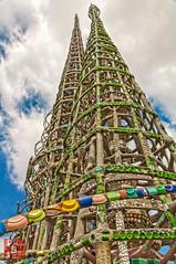 Watts Towers Close (*PhotoByJohn*) Tags: california sky tower history clouds losangeles other junk landmark 5d watts hdr highdynamicrange wattstowers simonrodia rodia photobyjohn canon5dmkii culturallandmark 5dmkii