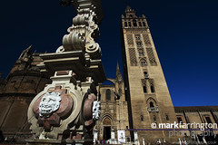 Giralda - Seville Cathederal (Mark R Farrington) Tags: city summer holiday building tower church beautiful architecture canon photography eos spain europe minaret visit seville belltower steeple cathederal 7d andalusia giralda renaissance religiousarchitecture desc2012