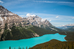Banff-152 (kayteeknee) Tags: lake canada mountains nature landscape day alberta banff rockymountains parkscanada peytolake peyto canadianrockies pwpartlycloudy pwsummer