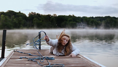 Hanging On (Brooke.Butler) Tags: morning fog sunrise movement bokeh teenagers rope steam conceptual expansion brookelizabeth126