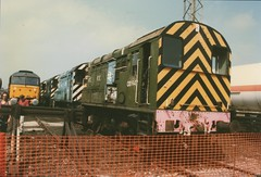 """'Royal' Class 47/7, 47799 """"Prince Henry"""" & Withdrawn Class 08's, 08647, 08849, & 08419 (37190 """"Dalzell"""") Tags: blue br spoon crewe res scrap rods duff windsorcastle withdrawn openday shunter stored gronk class47 princehenry class08 47799 47835 brush4 railexpresssystems royalplum class477 08419 08647 08849 abbworks"""