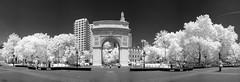 US-NY NYC - Washington Sq. Arch IR Pano 2014-07-12 (N-Blueion) Tags: newyorkcity panorama infrared