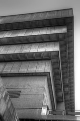 Old Birmingham Library 11 (alanhitchcock49) Tags: old bw white black 30 john concrete birmingham library july architect and brutalist madin 2014