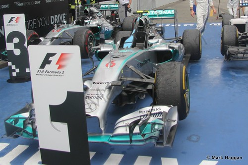 Nico Rosberg's Mercedes after the 2014 German Grand Prix