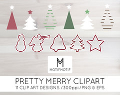 Christmas Vector Clipart pack blogs invites card making digital scrapbooking printable green and red (motifmotifdesign) Tags: art digital scrapbooking paper design makeup surface case clip pillow cover clipart throw packs