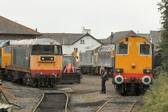 20166-37674-47843-20305-WR-18072014-1 (RailwayScene) Tags: vulcan 20305 tinsley 20166 drs wensleydalerailway class47 class37 class20 37674 47843 directrailservices rivieratrains leemingbar