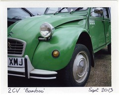 2CV Bamboo (Polaroid Colorpack III) (Chi Bellami) Tags: colour film polaroid automobile scan scanned instant epson fujifilm packfilm 4990 peelapart colorpackiii fp100c epsonperfection4990 chibellami