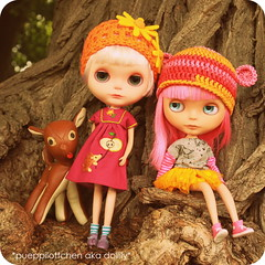 Girls in the woods ...