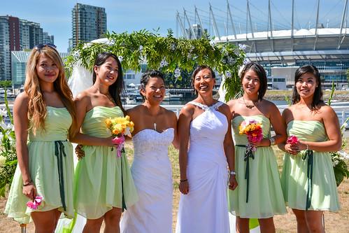 A+J's Wedding - Brides and Bridesmaids