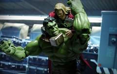 Thor vs Hulk (kevchan1103) Tags: max smile movie toys factory action good bruce banner company legends hulk thor marvel incredible figures avengers hasbro 216 masaki the mjolnir figma apsy