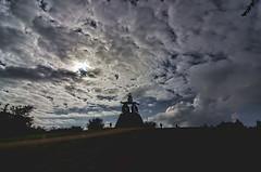 Monte do Gozo.- (ancama_99(toni)) Tags: travel vacation sky españa cloud clouds way spain nikon camino galicia galiza vacaciones nube pilgrim caminodesantiago peregrino pilgrims theway 2014 peregrinos 10favs 10faves 25favs 25faves ltytr1 d7000 núbes