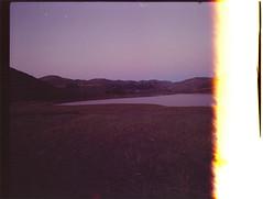 1 (Thea Stamatelos) Tags: pink sky reflection nature water landscape 35mmfilm honeywellpentax glowysunset