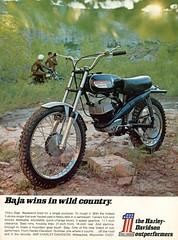 1970 Harley-Davidson Baja Motorcycle Advertisement Hot Rod November 1970