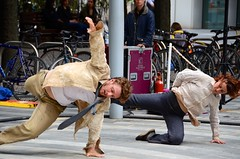 Frantic performed by Acrojou at Canary Wharf (Twareg) Tags: england london dance duet greenwich monday frantic canarywharf greenwichdocklandsinternationalfestival acrojou twareg gdif2014 westlarj