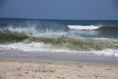 (Lady.in.Black) Tags: beach sand waves cloudy northcarolina outerbanks obx rodanthe roughwaves