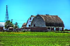 JuneDrive_003 (Mark Stumme) Tags: windmill barn rural nikon midwest iowa heartland how hdr breadbasket farmstead d600 middleamerica cornbelt nikond600 hdrscene luminancehdr darktable