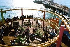 Fujica ST Santa Monica Pier 5 () Tags: california park camera summer west classic film wheel 35mm vintage coast amusement pier losangeles pacific santamonica shift ferris retro roller tilt coaster