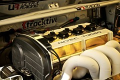 Heart of Gold (4oClock) Tags: park summer white speed gold nikon power time live nine attack engine culture fast 9 august racing lincolnshire turbo modified tuner tuning sprint ultra lancer trial mitsubishi ix furious evo cadwell 2014 tuned qualifying d90 mivec tracktive