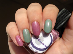 Cadillacquer All Sparks + Breathe Me (rittkin) Tags: pink green nail polish nails pistachio indie nailpolish holographic holo indiepolish cadillacquer