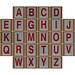 Hangman Red alphabet
